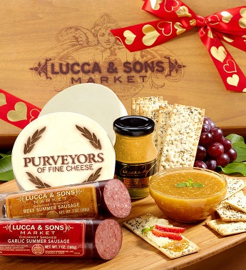 Lucca  Sons Valentine Sausage  Cheese Gift