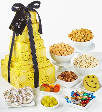 The Popcorn Factory Smiley Face 6 Tier Tower