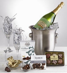 Celebrate Sparkling Wine Chiller Gift with Flutes