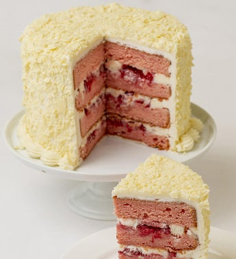 Fresh Strawberry Cream Cheese Frosted Cake