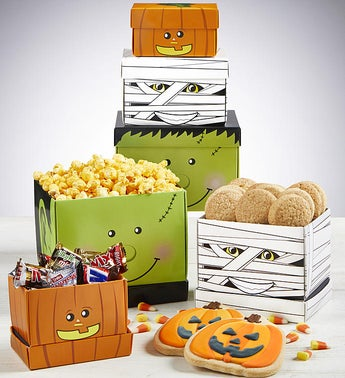 Spooky Characters Halloween Sweets Tower