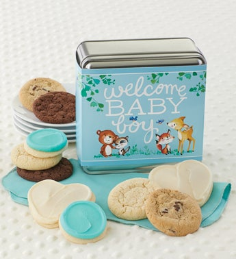 Cheryls Welcome Baby Boy Assorted Tin