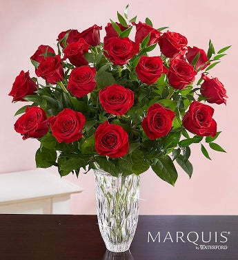 Marquis by Waterford Premium Long Stem Red Roses