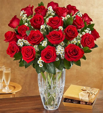 Premium Red Roses for Valentines Day 12-24 Stems