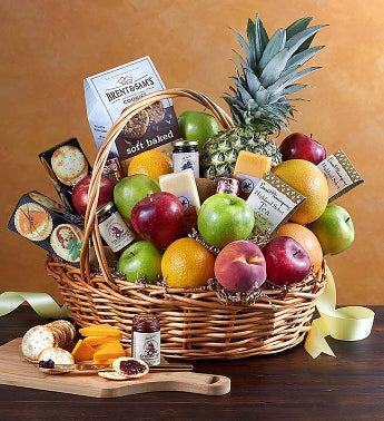 Deluxe Fruit  Gourmet Basket for Sympathy