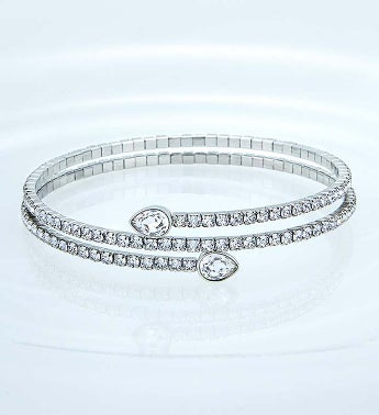 Swarovski Crystal Wrap Bracelet with Pear Crystals