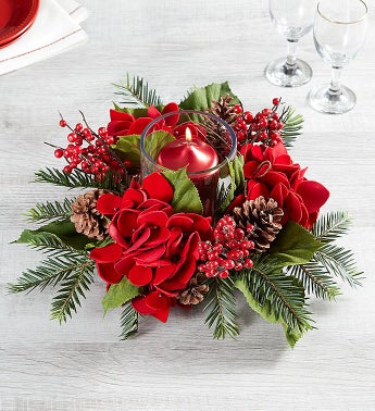 Holiday Hydrangea Centerpiece