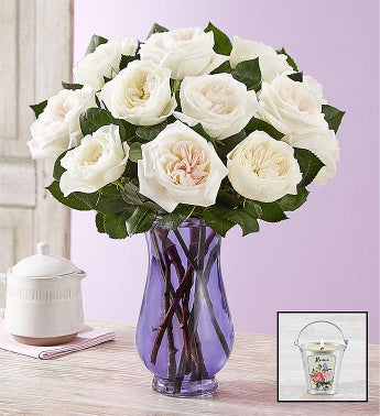 English Garden Rose Bouquet White
