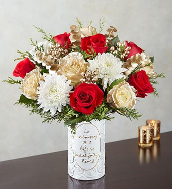 Elegant Winter Sympathy Bouquet