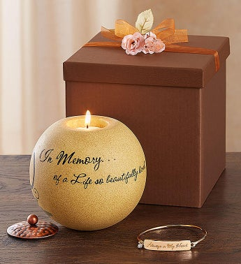 In Loving Memory Comfort Candle and Bracelet