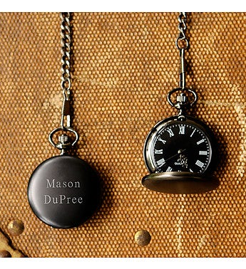 Personalized Midnight Pocket Watch