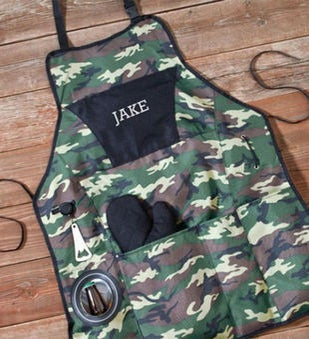 Personalized Deluxe Camouflage Grilling Apron Set