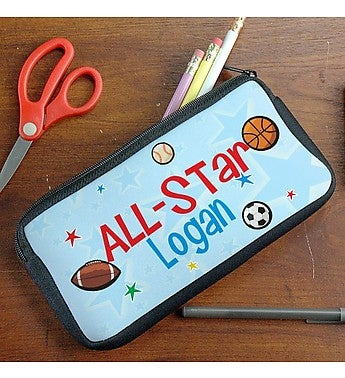 PERSONALIZED ALL STAR PENCIL CASE
