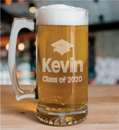 Personalized Class of Graduation Glass Mug