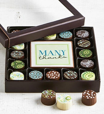 Simply Chocolate Thank You Bar  Truffles 17 pc