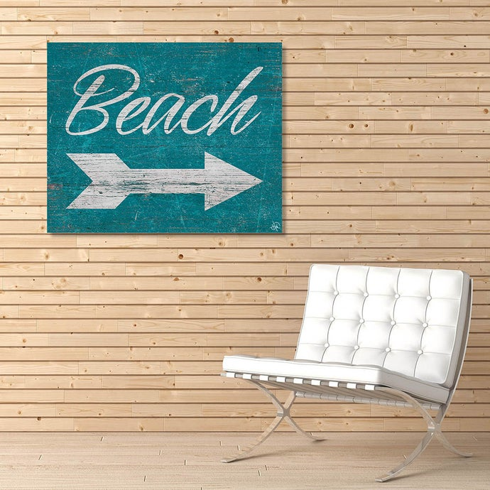 Beach Sign In White