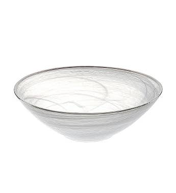 White Silver Alabaster Bowl