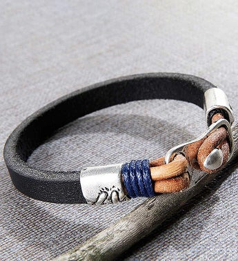 Denali Leather Men's Bracelet