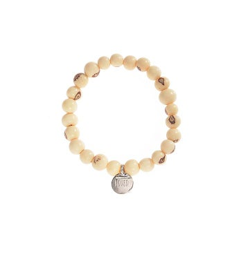 Hearts of Gold Wood Bracelet Silver