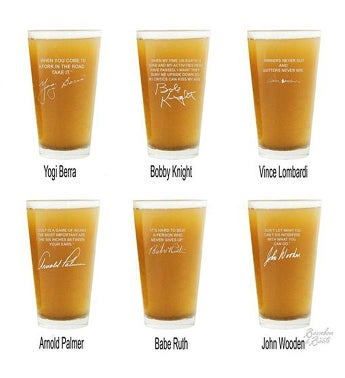Sports Quotes Beer Glasses