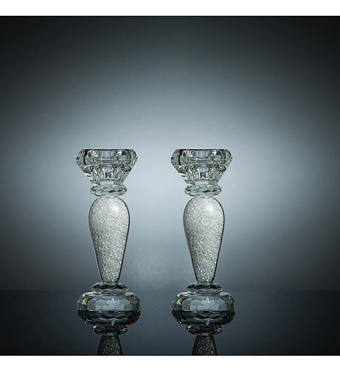 Crystal Candlestick 2-Piece Set
