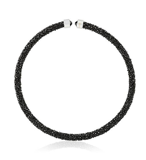 Black Glittery Choker Necklace