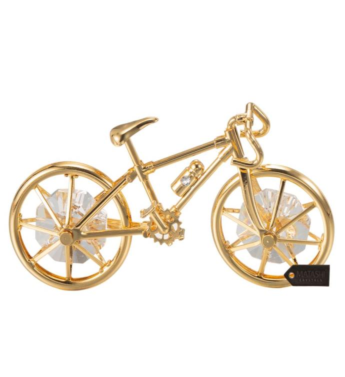 Gold Plated Bicycle Ornament