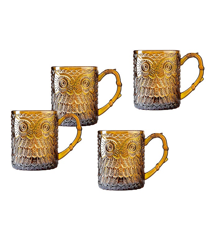 Owl Mugs set of 4