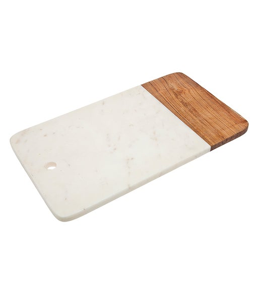 Wood/Marble Rectangle Cheese Board