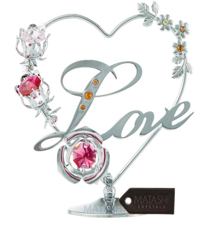 Silver Love Table Top Ornament