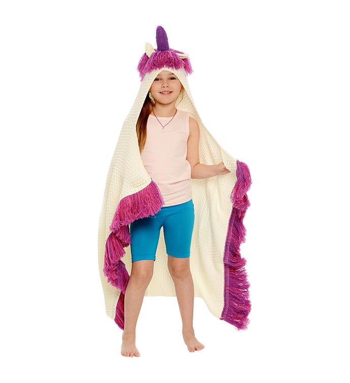 Hooded Unicorn Blanket