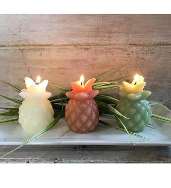 Pineapple Beeswax Candles Set of 3