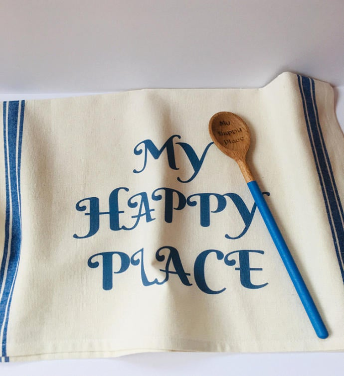 Kitchen Towel and Wooden Spoon Set & Housewarming Gift Ideas   Unique Housewarming Gifts   Goodsey