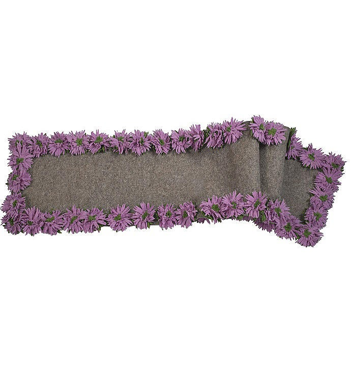 Hand Felted Wool Floral Border Table Runner