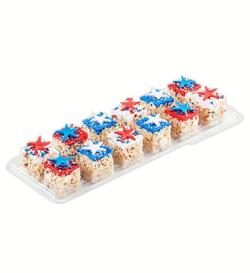Patriotic Stars 12 pack of Gourmet Rice Krispie Treats from Treat House