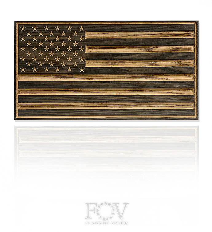 Subdued Old Glory Desk Flag