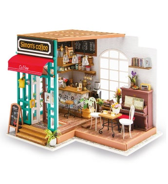 Diy Dollhouse Kit - Simon's Coffee Shop