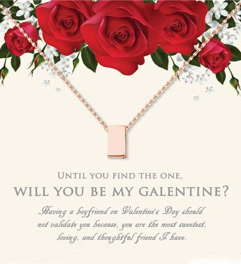 Will You Be My Galentine Cube Valentine39s Day Necklace