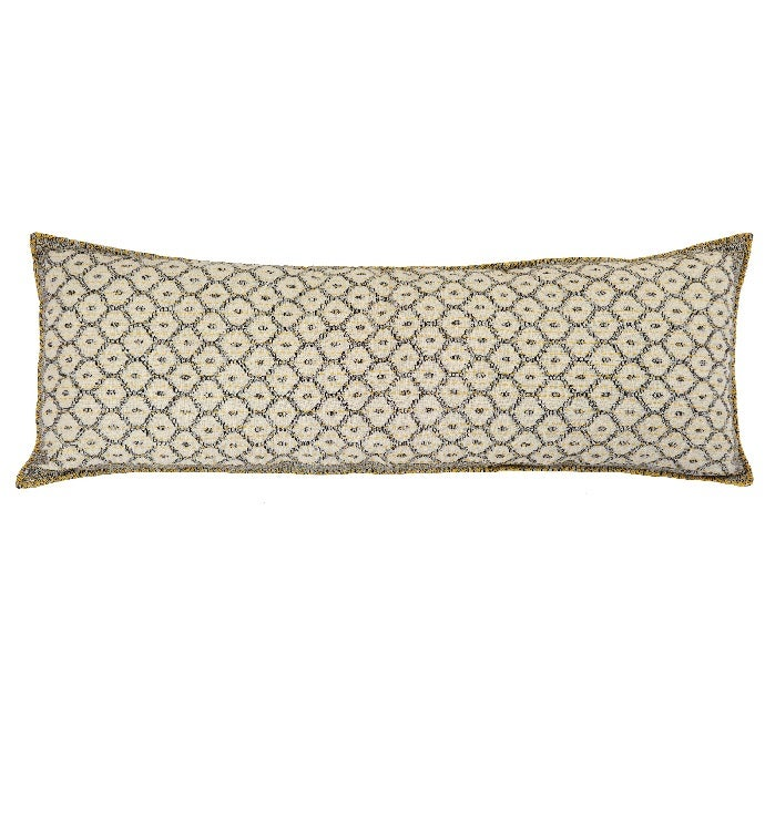 Artisan Hand Loomed Cotton Lumbar Pillow