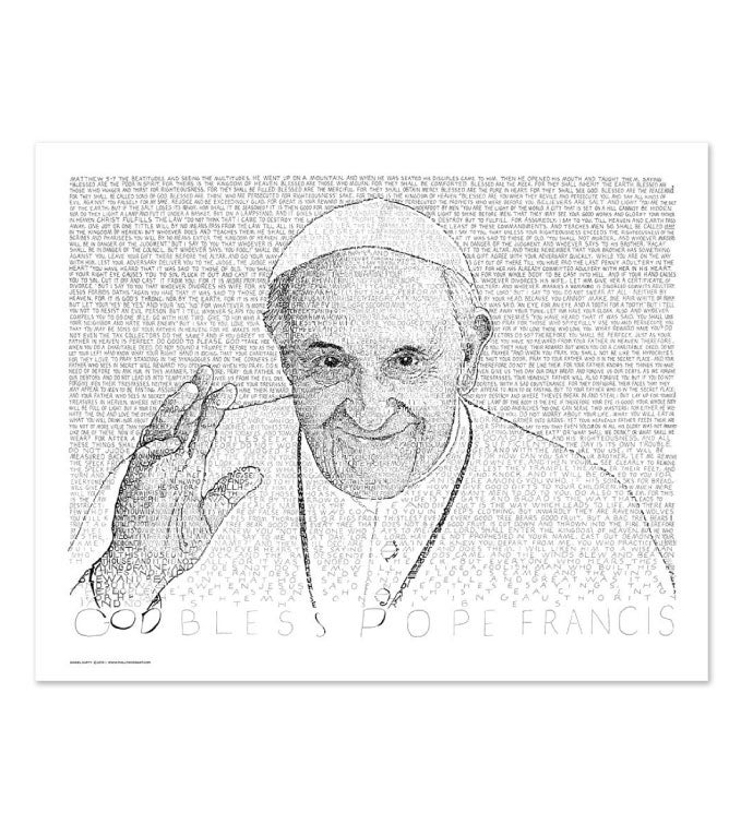 Pope Francis Word Art