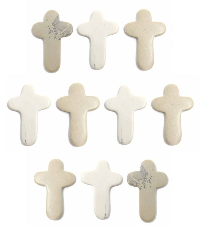Hand-Carved Soapstone Comfort Crosses Set Of 10