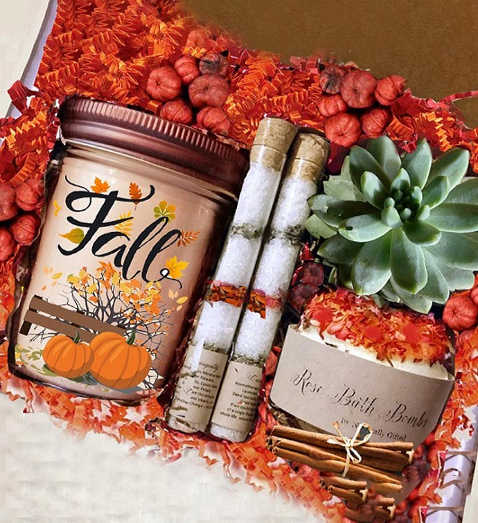 Hello Fall Succulent  Spa Gift Box