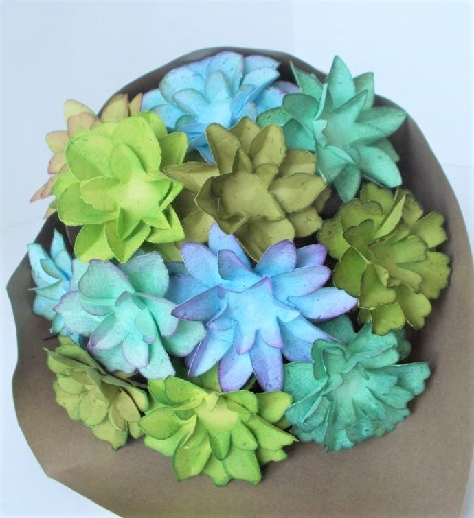 Seeded Paper Succulent Bouquet