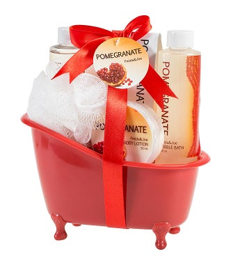 Pomegranate Spa Bath  Body Gift Set Tub
