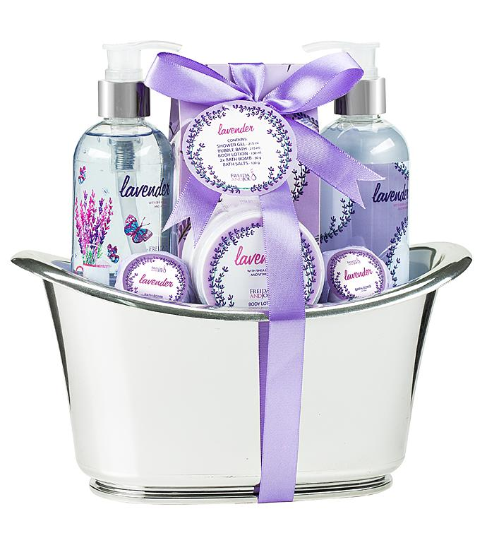 Lavender Bath and Body Spa Gift Set Tub