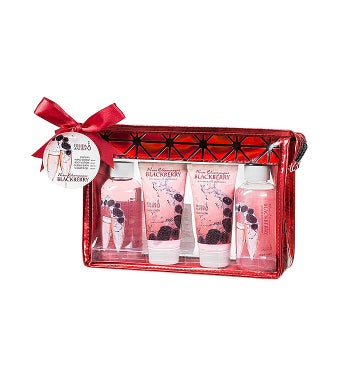Rose Champagne Blackberry Aromatherapy Toiletry Gift Set