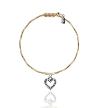 Strung Guitar String Bracelet - Heart Whole Lotta Love ML