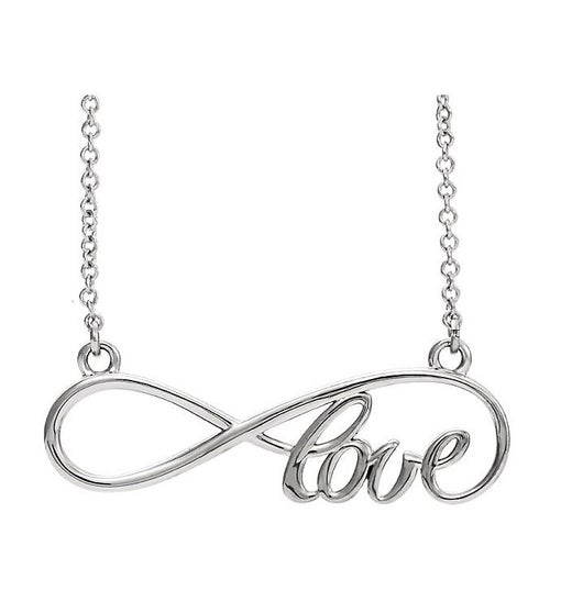 Infinity Love Necklace, Sterling Silver